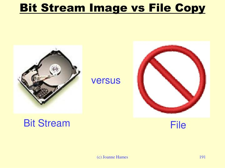 Bit Stream Image vs File Copy