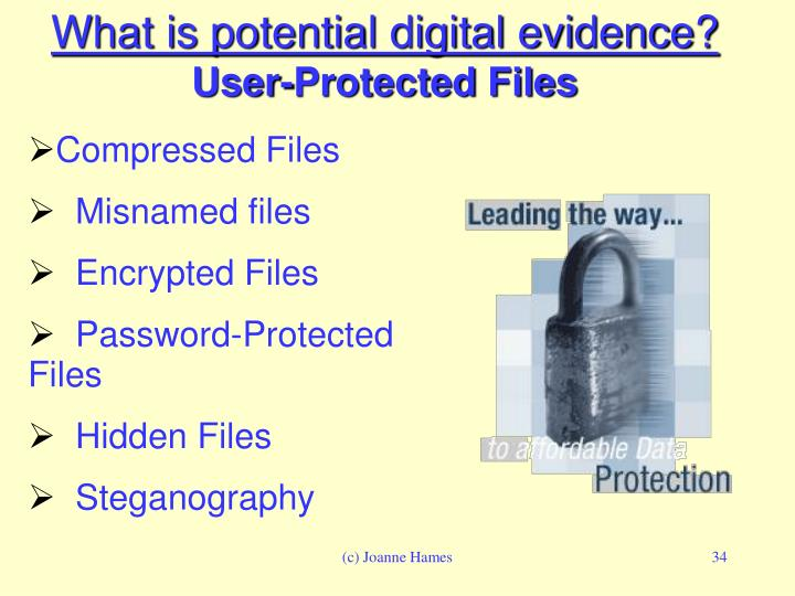 What is potential digital evidence?