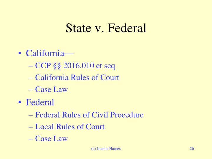 State v. Federal