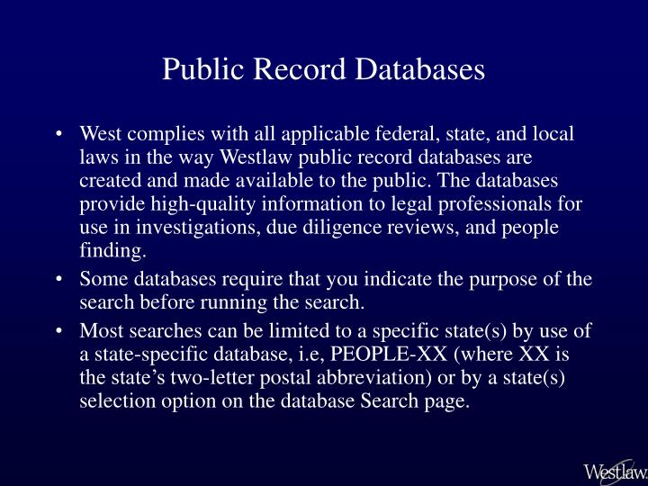 Public Record Databases