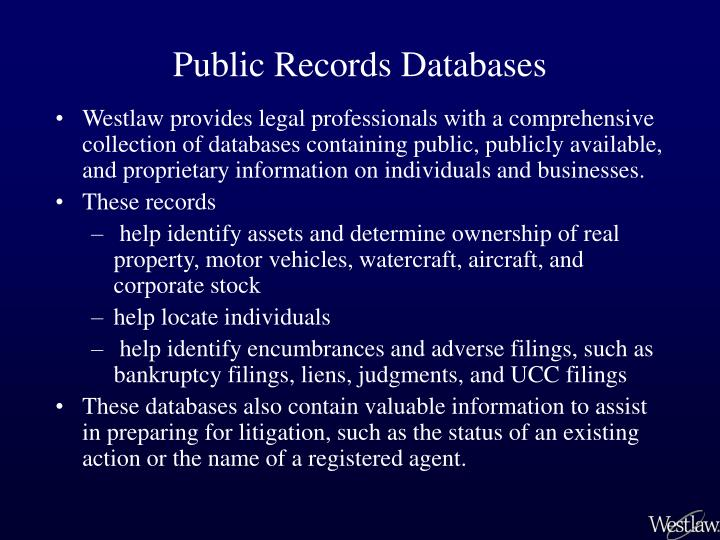 Public records databases1