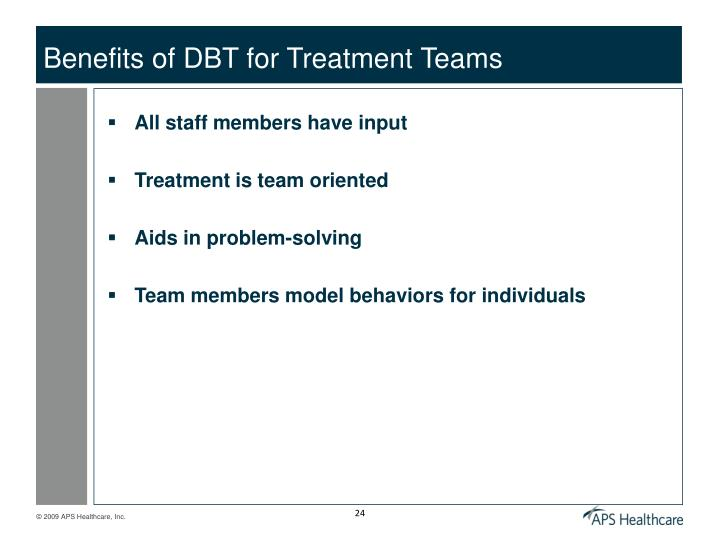 Benefits of DBT for Treatment Teams