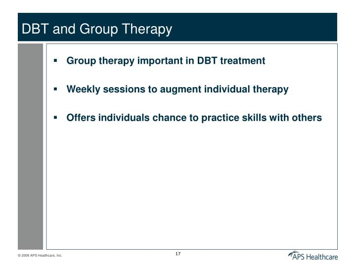 DBT and Group Therapy