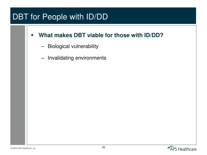DBT for People with ID/DD