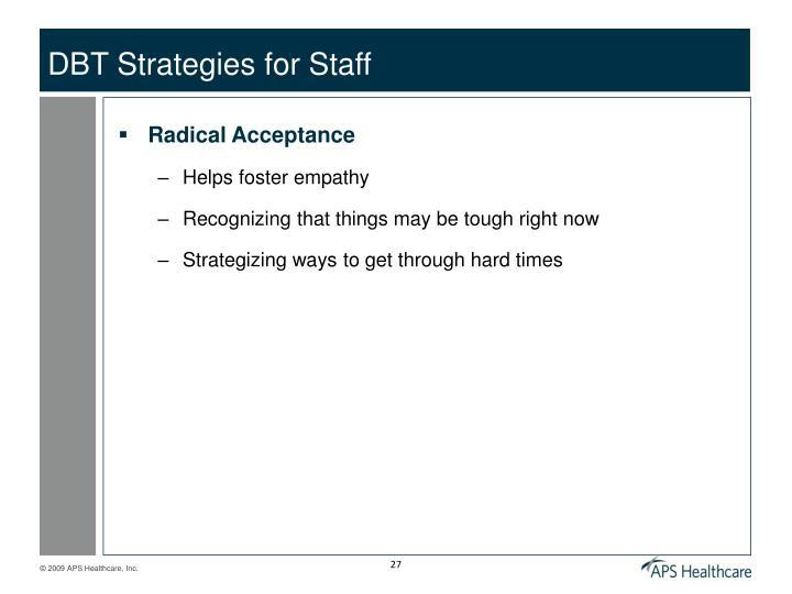 DBT Strategies for Staff