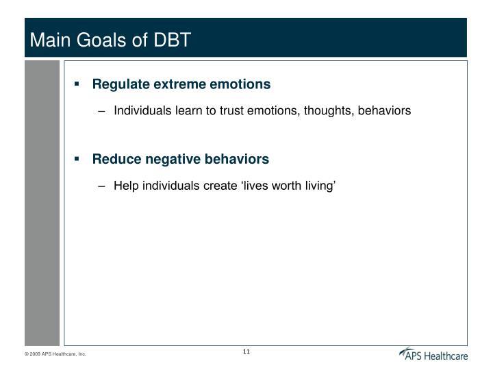 Main Goals of DBT