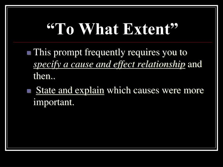 """""""To What Extent"""""""