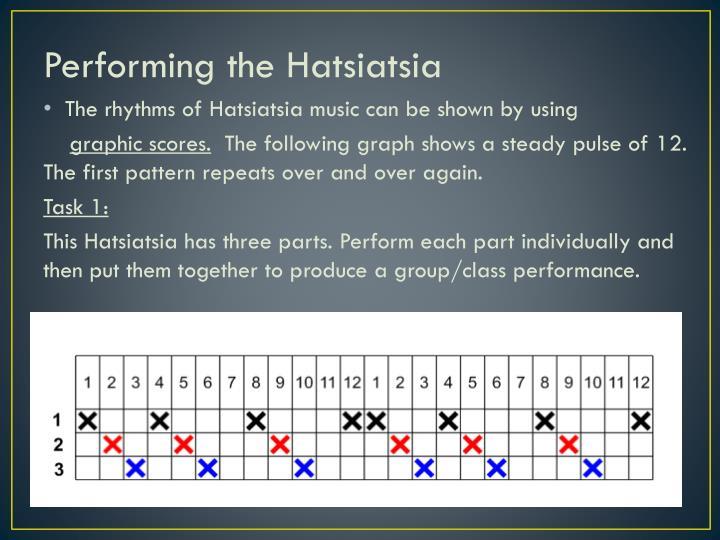Performing the Hatsiatsia