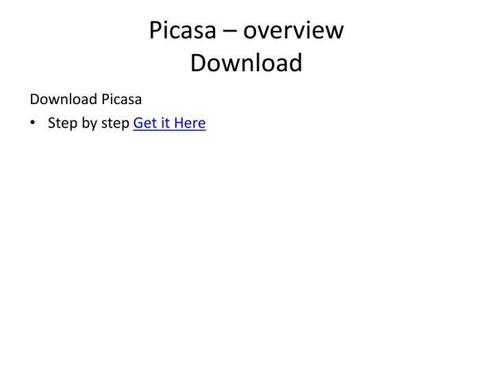 Picasa – overview