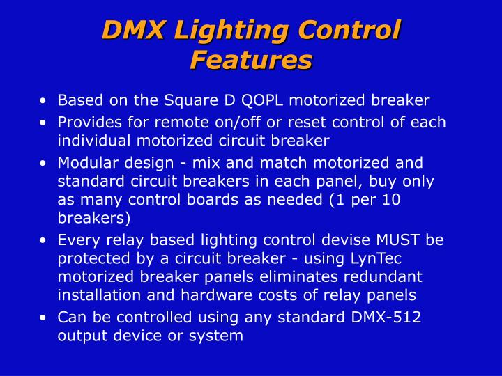 DMX Lighting Control Features