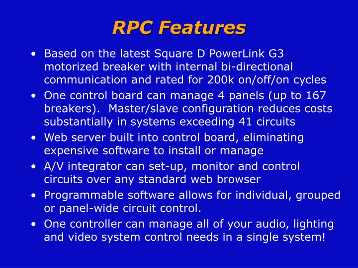 RPC Features