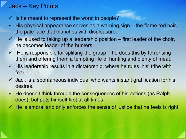 Jack – Key Points
