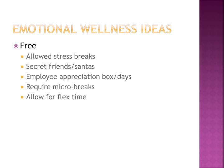 Emotional Wellness Ideas