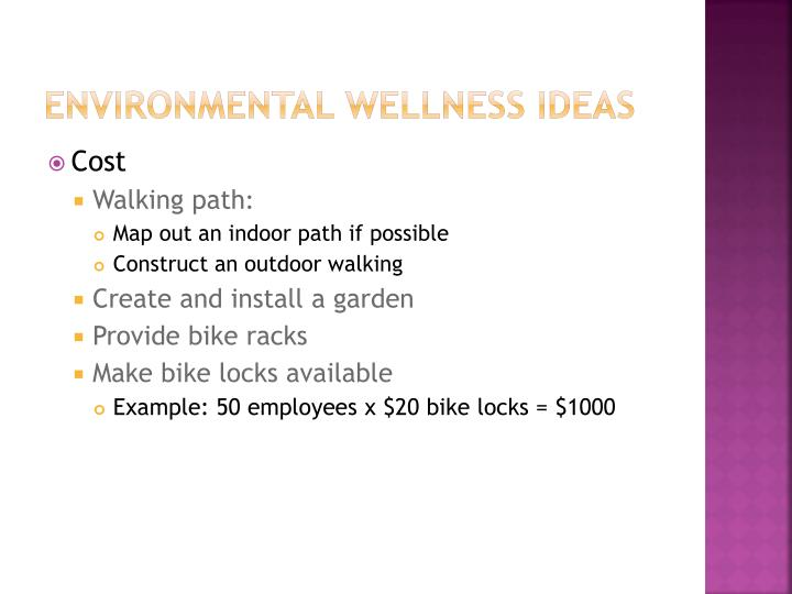 Environmental Wellness Ideas