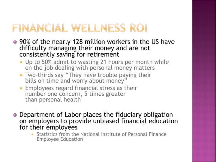 Financial Wellness ROI