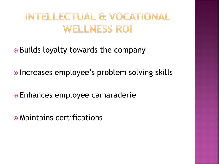 Intellectual & Vocational