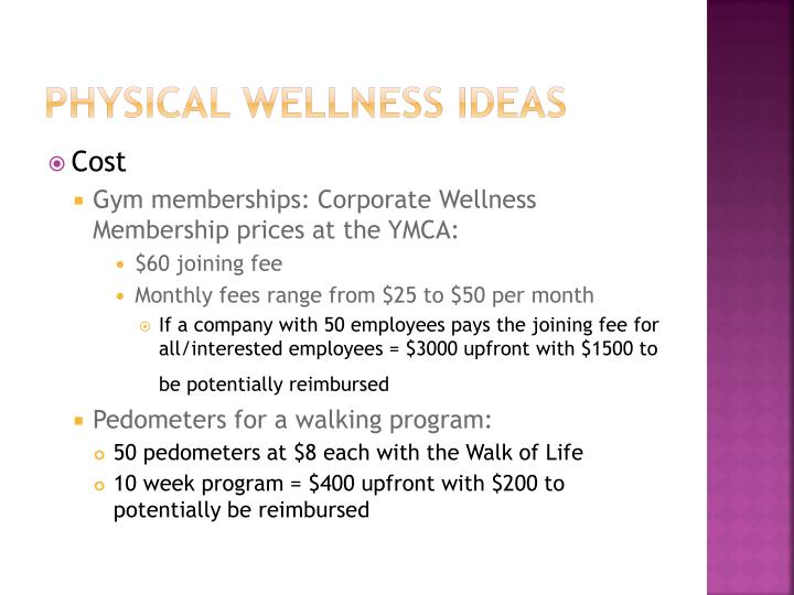 Physical wellness Ideas