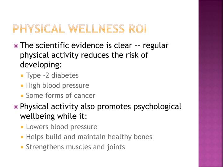 Physical Wellness ROI