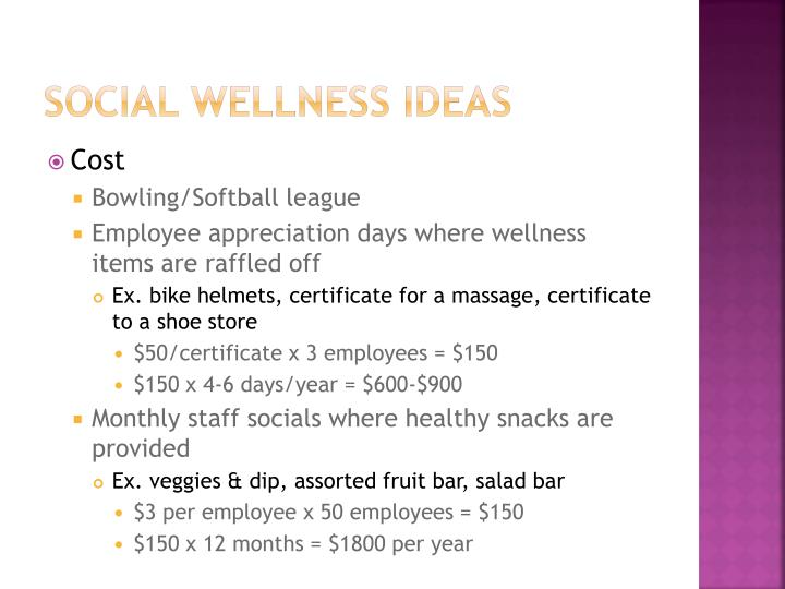 Social wellness Ideas