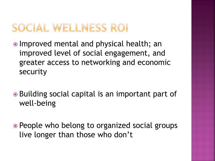Social wellness ROI
