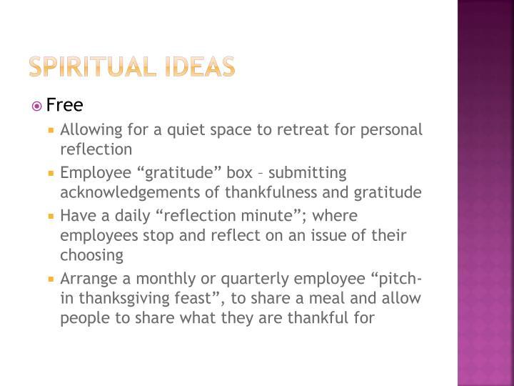 Spiritual Ideas