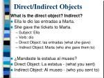 direct indirect objects