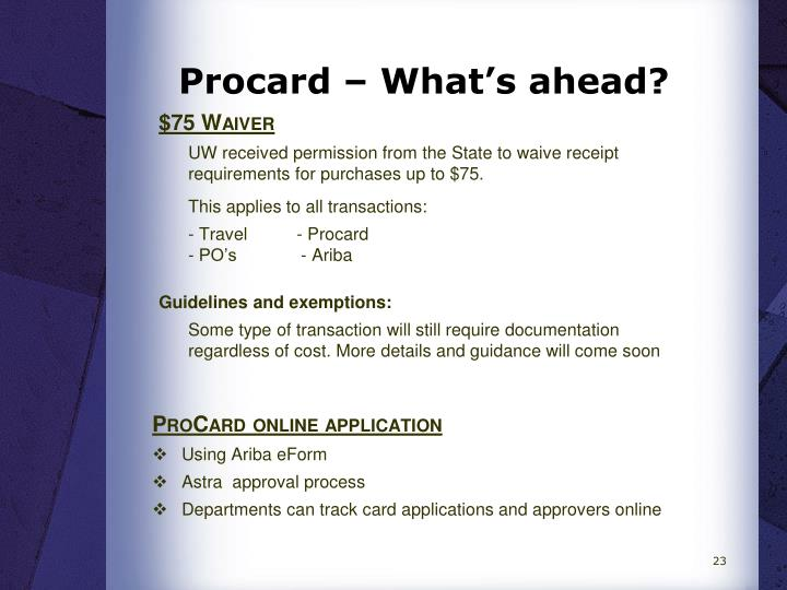 Procard – What's ahead?