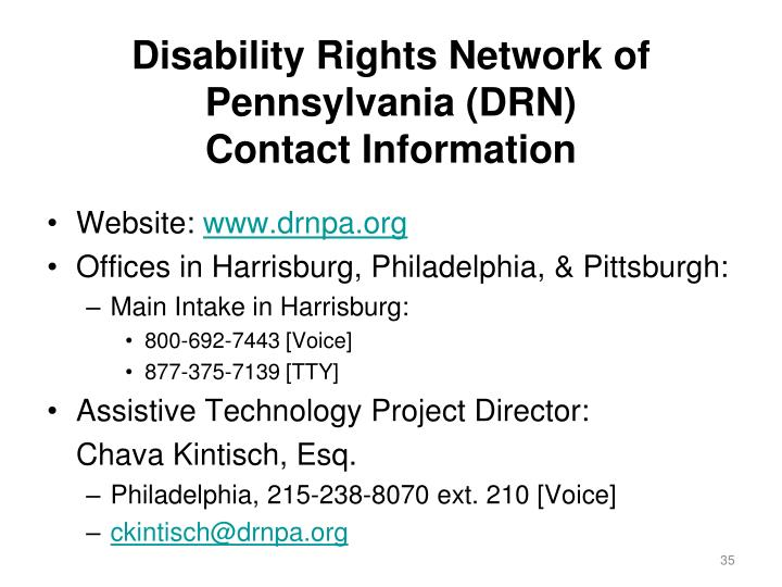 Disability Rights Network of Pennsylvania (DRN)