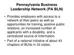 pennsylvania business leadership network pa bln1