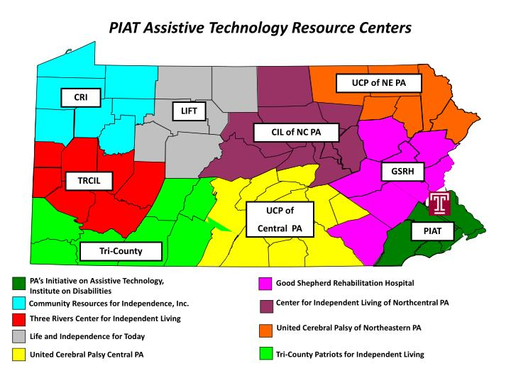 PIAT Assistive Technology Resource Centers