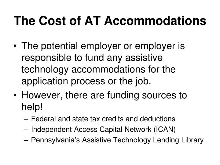 The Cost of AT Accommodations