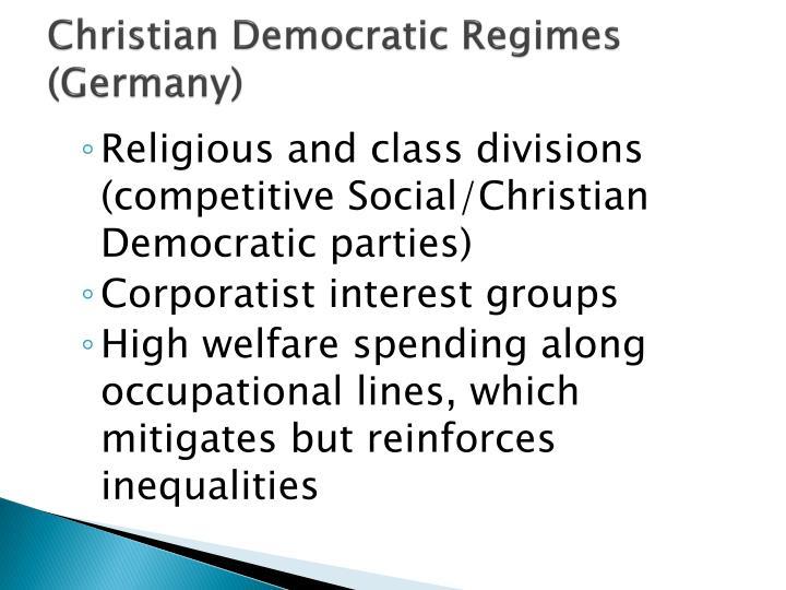 Christian Democratic Regimes (Germany)