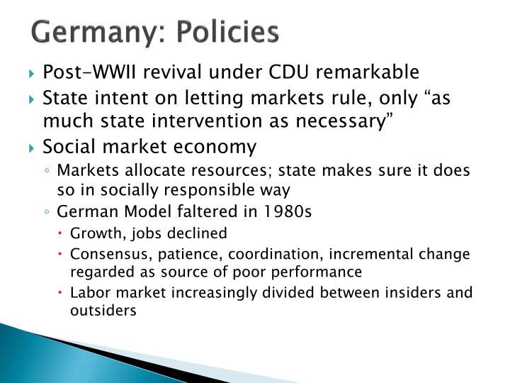 Germany: Policies