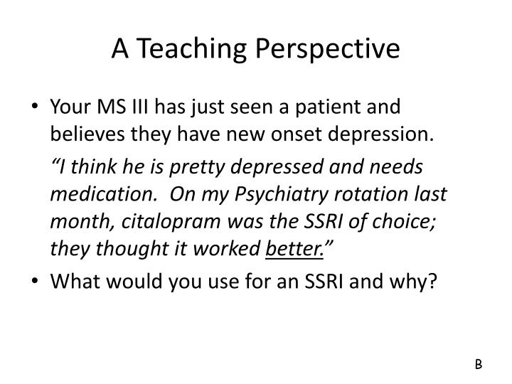 A Teaching Perspective