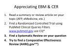 appreciating ebm cer2