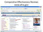 comparative effectiveness reviews www ahrq gov