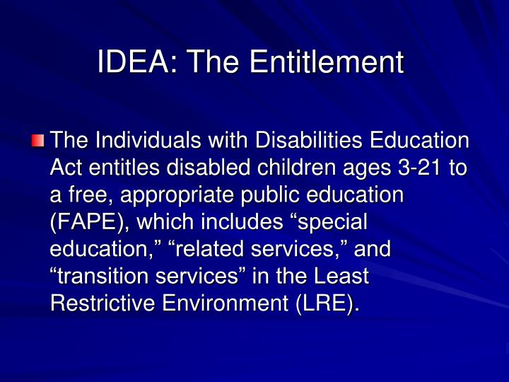 Idea the entitlement