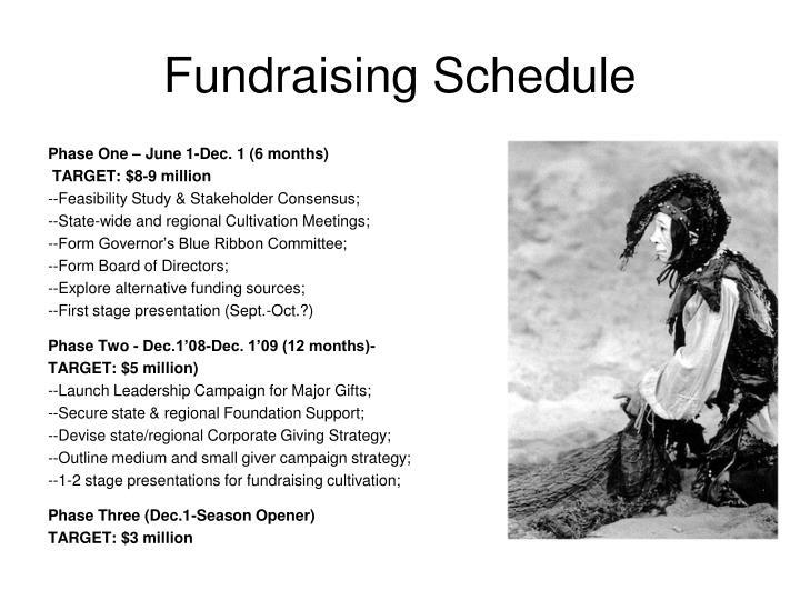 Fundraising Schedule