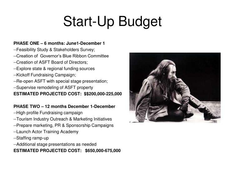 Start-Up Budget