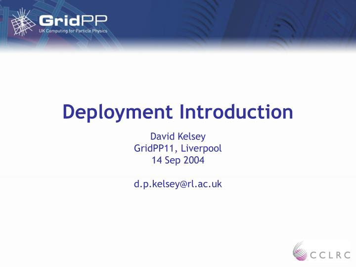 Deployment introduction