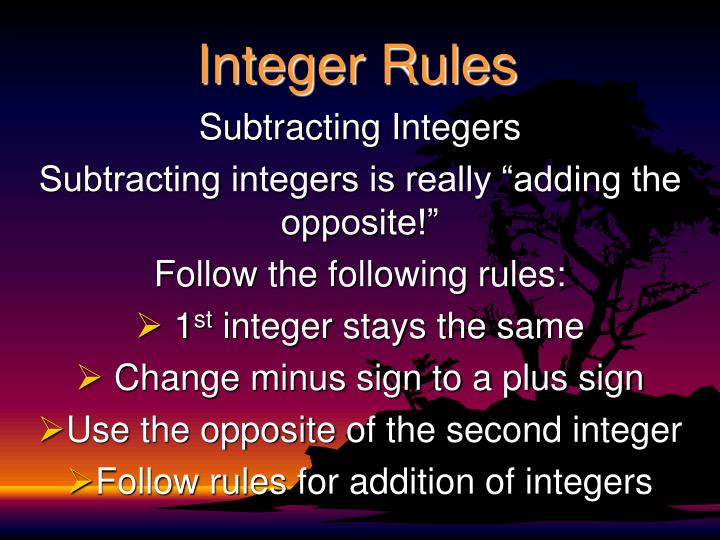 Integer rules1