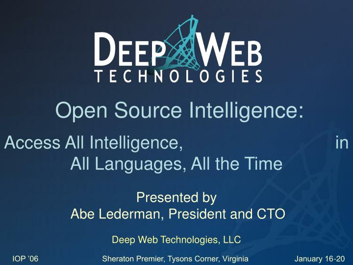 Open Source Intelligence: