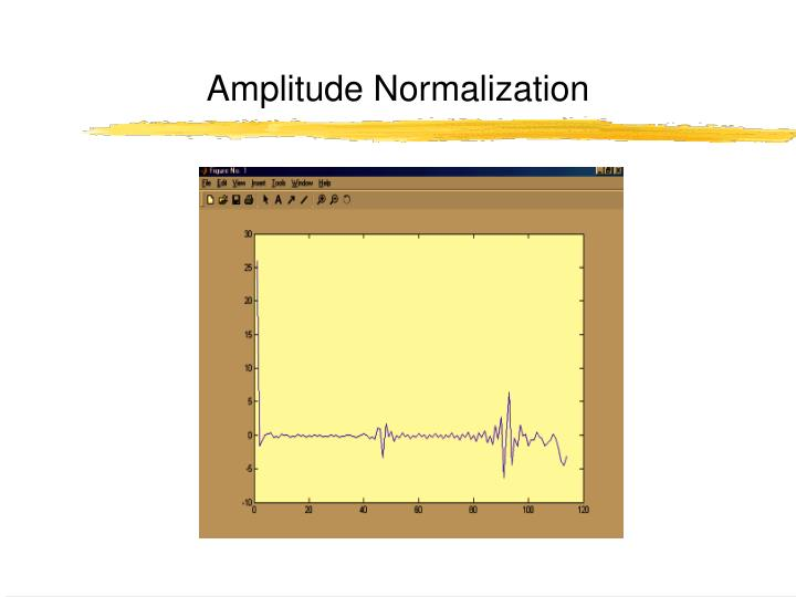 Amplitude Normalization