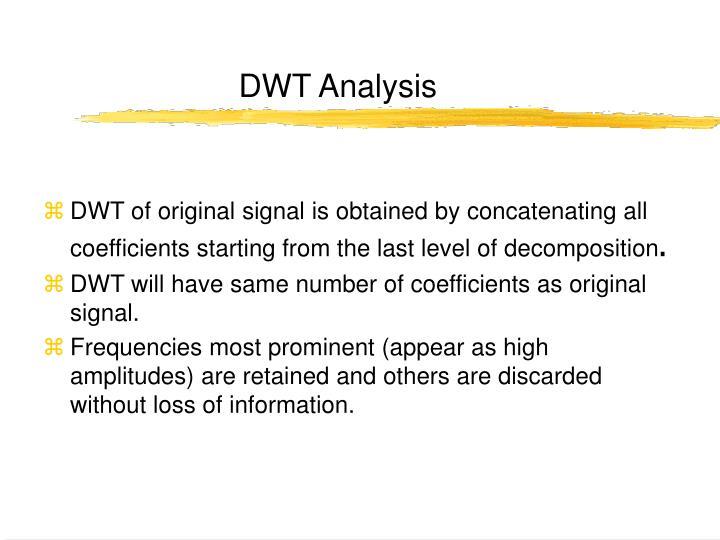 DWT Analysis