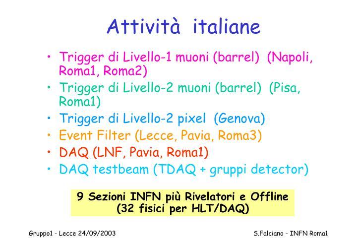 Attività  italiane