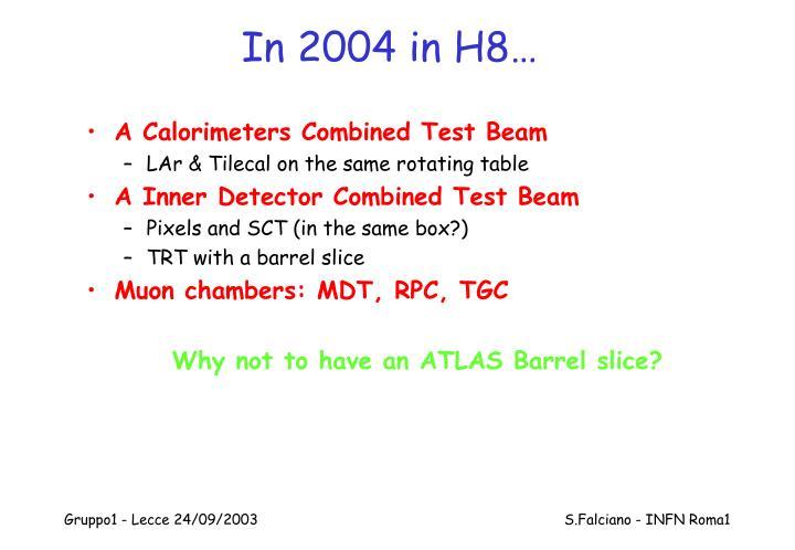 In 2004 in H8…