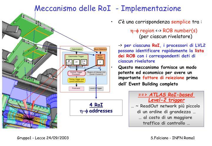 Meccanismo delle RoI  - Implementazione