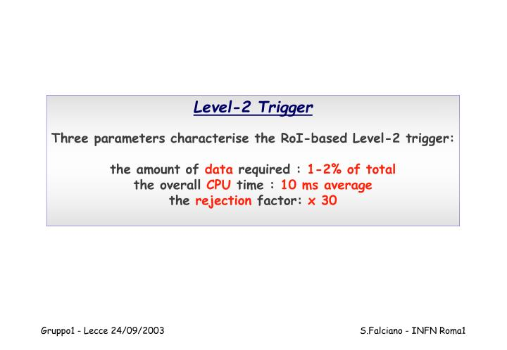 Level-2 Trigger