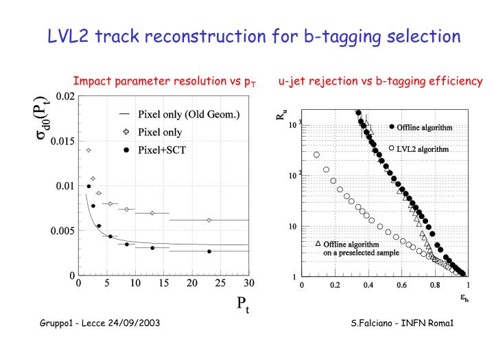 LVL2 track reconstruction for b-tagging selection