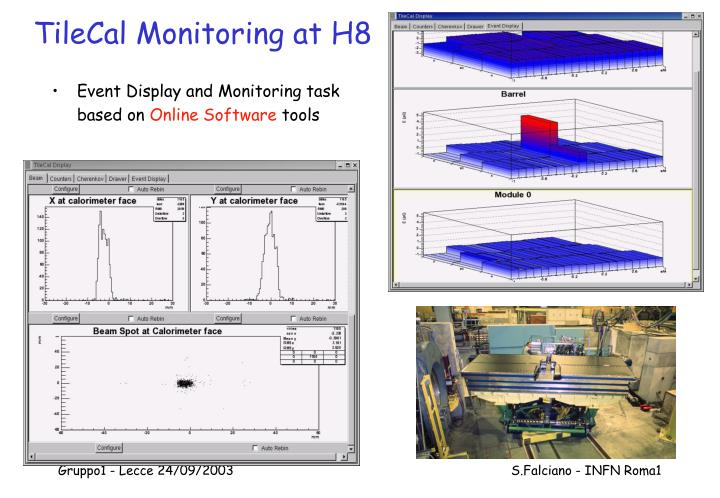 TileCal Monitoring at H8